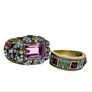 Heidi Daus Swavorski Crystal Ring Bundle